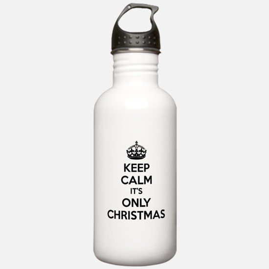 Keep calm it's only christmas Water Bottle
