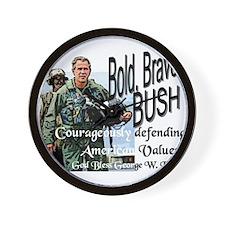 Bold Brave...Bush! Wall Clock