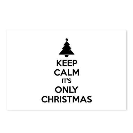 Keep calm it's only christmas Postcards (Package o