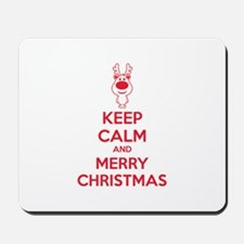 Keep calm and merry christmas Mousepad