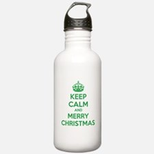 Keep calm and merry christmas Water Bottle