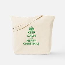 Keep calm and merry christmas Tote Bag