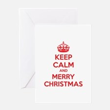 Keep calm and merry christmas Greeting Card