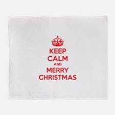 Keep calm and merry christmas Throw Blanket