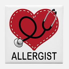 Allergist Gift Tile Coaster