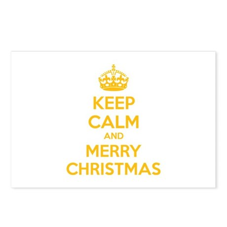 Keep calm and merry christmas Postcards (Package o