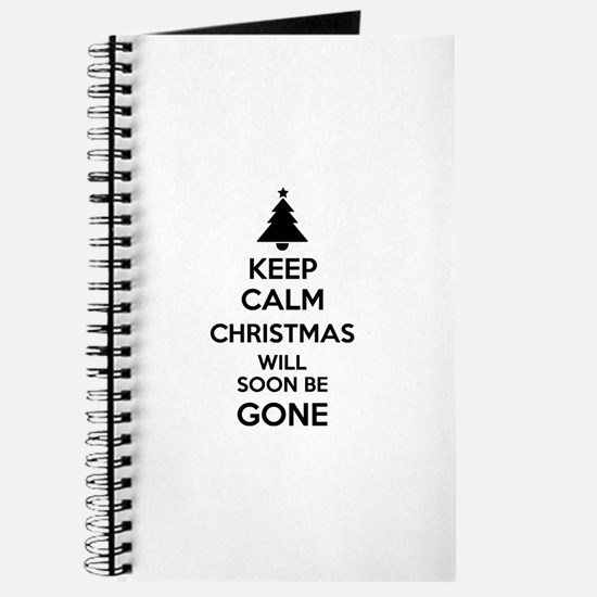 Keep calm christmas will soon be gone Journal