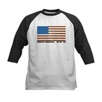 Jewish Flag Kids Baseball Jersey