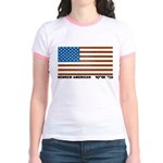 Jewish Flag Jr. Ringer T-Shirt