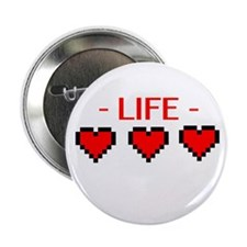 "Life Hearts 2.25"" Button"