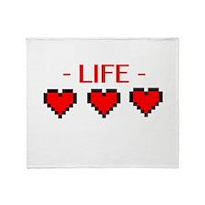 Life Hearts Throw Blanket