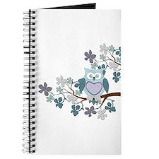 Winter Polka Owl in Tree Journal