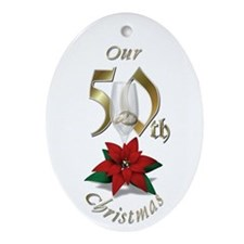 50th Christmas Porcelain, Ornament (Oval)