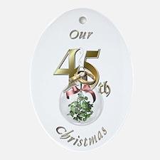 45th Christmas Porcelain, Ornament (Oval)