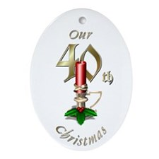 40th Christmas Porcelain, Ornament (Oval)