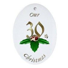 30th Christmas Porcelain, Ornament (Oval)