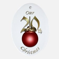 20th Christmas Porcelain, Ornament (Oval)