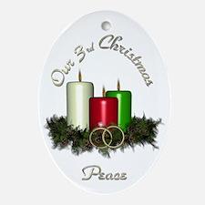3rd Christmas Porcelain, Ornament (Oval)