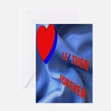 LEATHER 4EVER WAVY SATIN/DONOR Greeting Card10PK