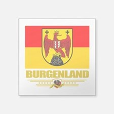 "Burgenland (Flag 10).png Square Sticker 3"" x 3"""