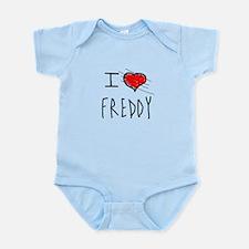 i love Halloween Freddy Infant Bodysuit