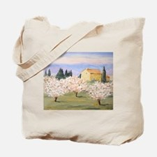 Almond Blossom Cottage Tote Bag