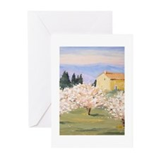 Almond Blossom Cottage Greeting Cards (Pk of 20)