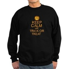 keep calm and trick or treat Halloween Sweatshirt