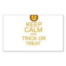 keep calm and trick or treat Halloween Decal