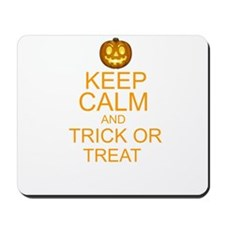 keep calm and trick or treat Halloween Mousepad