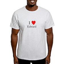 i love Edward heart T-Shirt