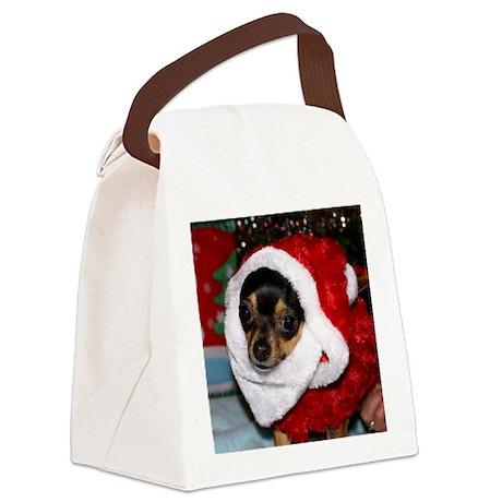 Chihuahua Santa Canvas Lunch Bag