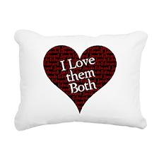 love them both.png Rectangular Canvas Pillow