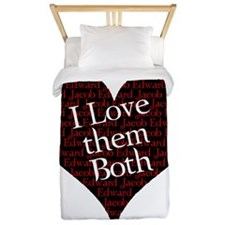 love them both.png Twin Duvet