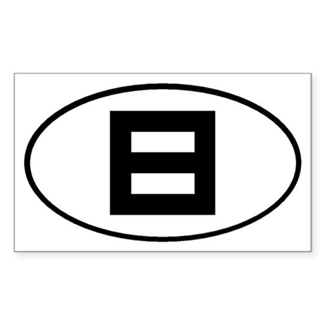 Equality Oval Sticker