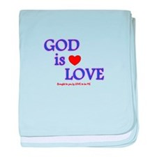 GOD IS LOVE baby blanket