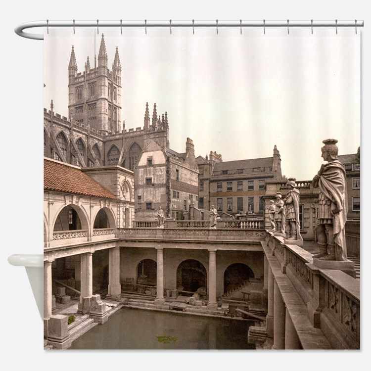 Roman Baths and Abbey Shower Curtain