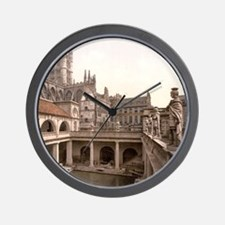 Roman Baths and Abbey Wall Clock