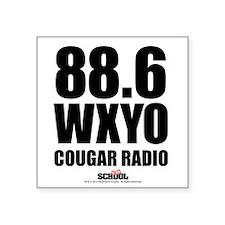"""Cougar Radio Square Sticker 3"""" x 3"""""""