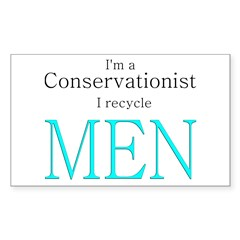 Green, conservation, humor Rectangle Decal