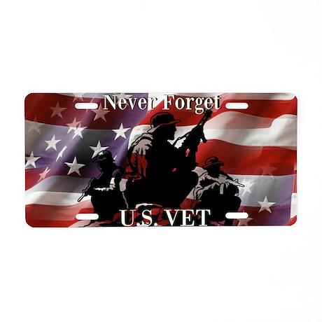 Never Forget U.S. VET Aluminum License Plate