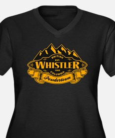 Whistler Mountain Emblem Women's Plus Size V-Neck