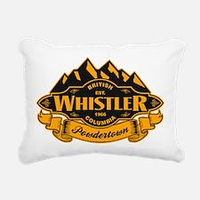 Whistler Mountain Emblem Rectangular Canvas Pillow