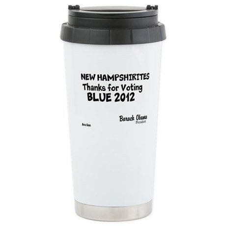 New Hampshire Votes Blue 2012 Stainless Steel Trav