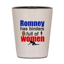 Binders full of women Shot Glass