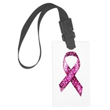 Cute Pink breast cancer Luggage Tag