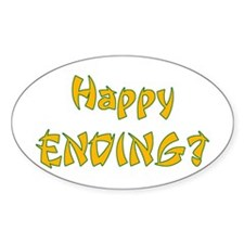 Happy Ending? Oval Decal