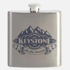 Keystone Mountain Emblem Flask