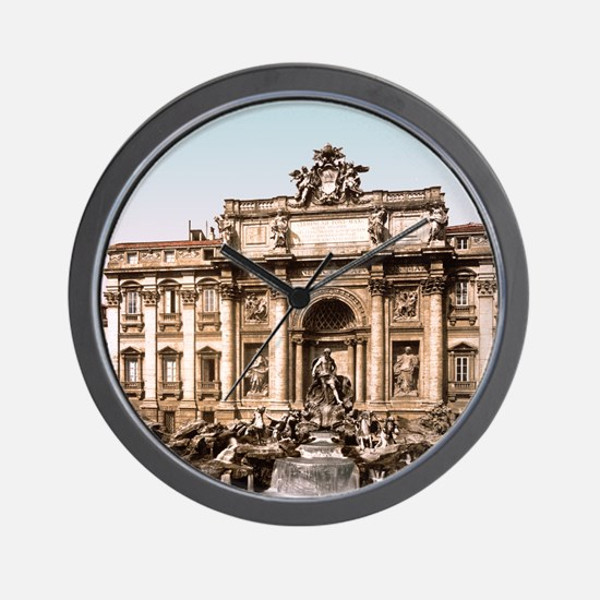 Fountain of Trevi Wall Clock