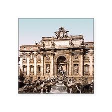 """Fountain of Trevi Square Sticker 3"""" x 3"""""""